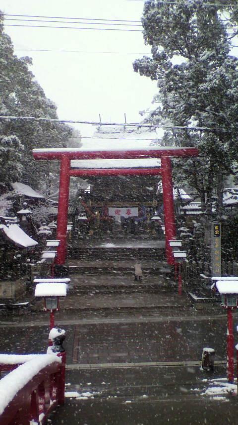 雪の中の国宝