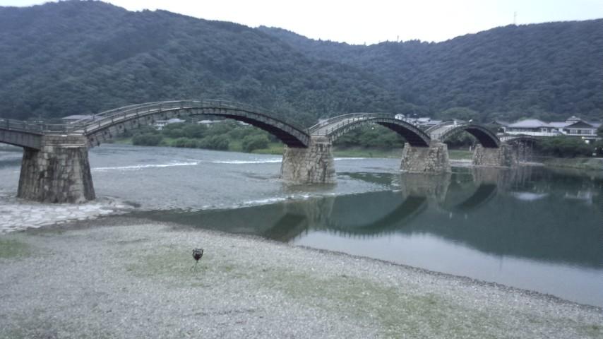 岩国城に錦帯橋